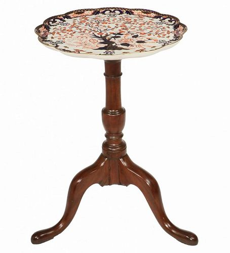 UNUSUAL ROYAL CROWN DERBY CHARGER TOP TEA TABLE
