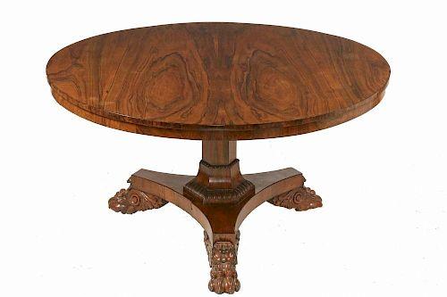 ROSEWOOD PEDESTAL BASE ROUND TABLE