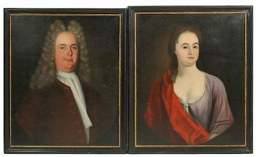 PAIR OF 18TH C. ENGLISH PORTRAITS