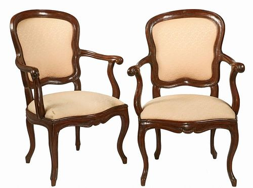 PAIR OF LOUIS XIV ARMCHAIRS