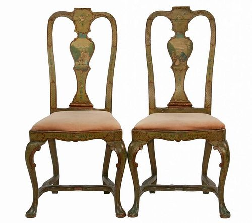 PAIR OF EARLY 'SCENE CHAIRS'