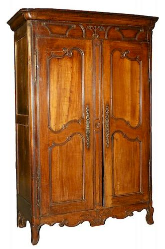 FRENCH TWO-DOOR ARMOIRE