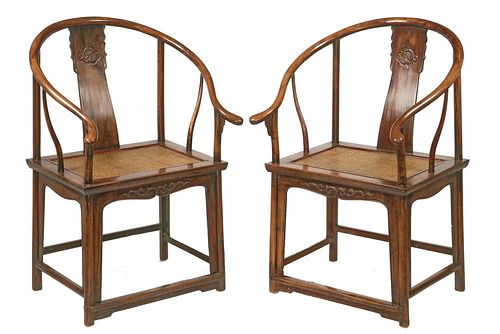 PAIR OF 18TH C. CHINESE ARMCHAIRS