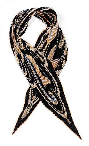 "An Hermes 90cm Silk Plisse Scarf, 36""x36""."