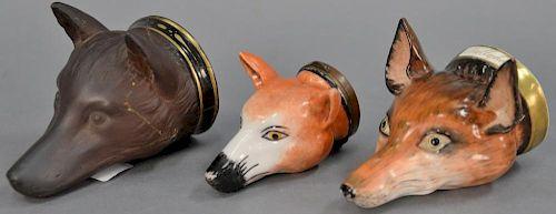 Three Fox Masks Including Rare 19th Century English