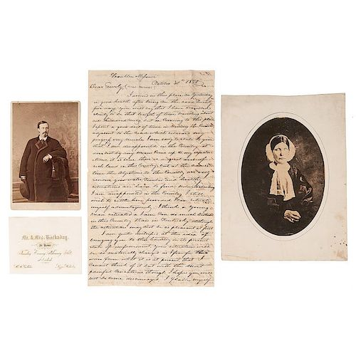 The Pioneering Hockaday Family of Missouri and Kentucky, Archive Incl. Correspondence, Photographs, and Land Grants Signed by