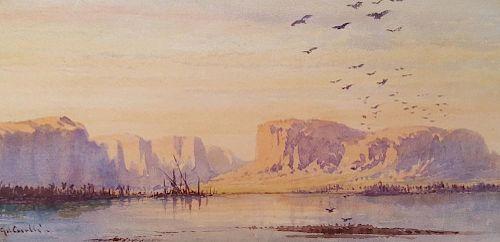 Gabriel Carelli Italian Orientalist Egypt Nile 19th century