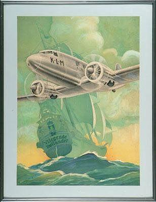 KLM-DC-2 advertising poster, 1936
