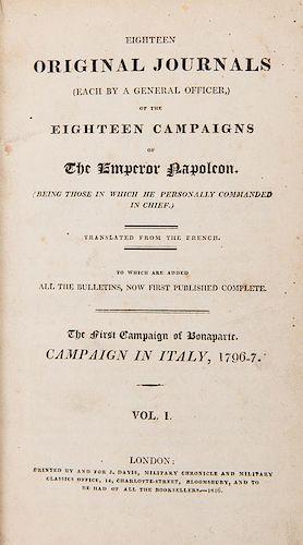 [Bonaparte, Napoleon] Eighteen Original Journals