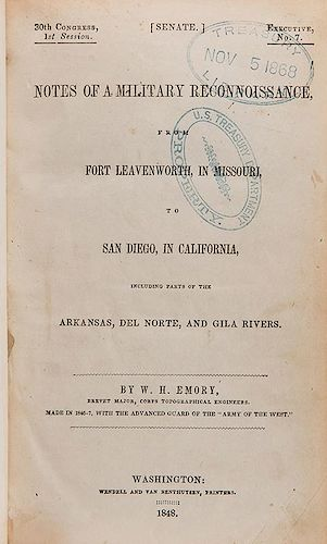 Emory, W.H. Notes of a Military Reconnaissance, from Fort Leavenworth