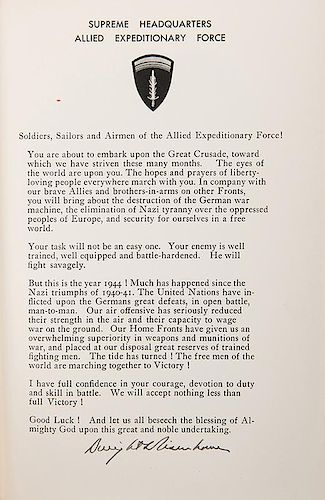 [WWII] Eisenhower, Dwight D. Crusade in Europe.