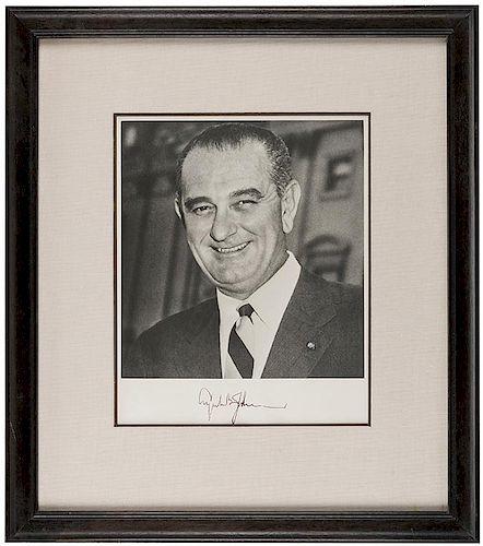 Johnson, Lyndon B. Signed Photograph.