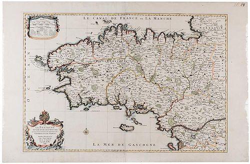 [Map] Jaillot, Charles Hubert Alexis. La Bretagne