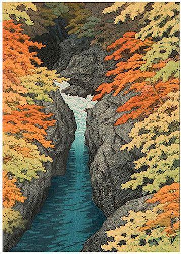 [Japan] Hasui, Kawase. Four Woodblock Prints.