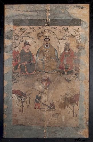 [China] Antique Large Chinese Ancestral Portrait.