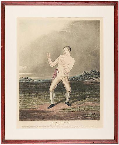 [Sport. Boxing] Hunt, Charles (British, 1803-1877). Bendigo.