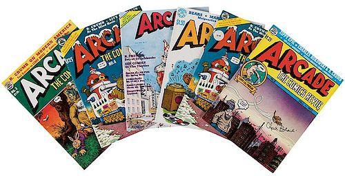 Crumb, Robert. Arcade: The Comics Revue. Group of Six Comic Books.