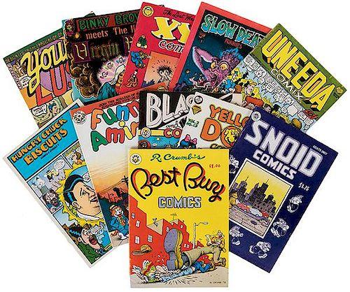 Crumb, Robert. Group of a Dozen Comic Books.