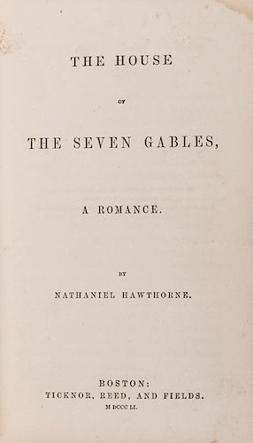 Hawthorne, Nathaniel. The House of Seven Gables.