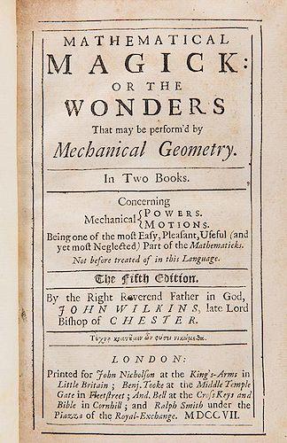 [Mathematics] Wilkins, John. Mathematical Magick.