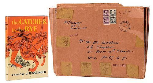 Salinger, J.D. Hand-Addressed File Folder Envelope to Eli Waldron