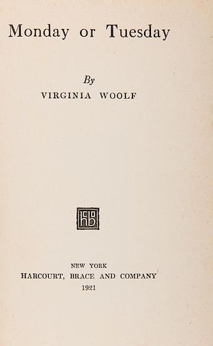 Woolf, Virginia. Monday or Tuesday