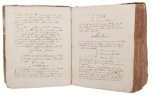 [Physics] Eighteenth Century French Physics' Student Manuscript.