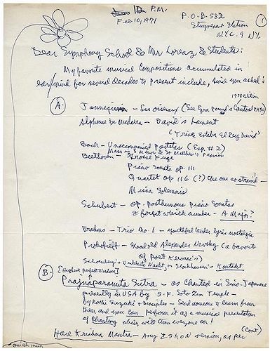 Ginsberg, Alan. Five Page Autographed Letter Signed.