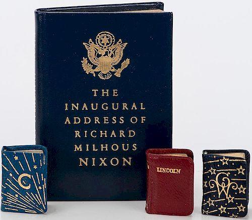 [Miniature Books] Kingsport Press. Three miniature books pertaining to presidents.