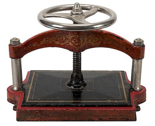 An Antique Book Press. Nineteenth century.