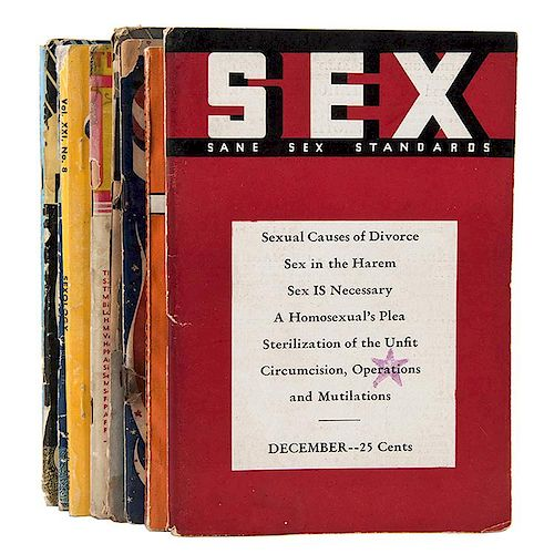 A Group of Pamphlets Pertaining to Sex Studies