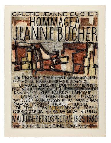 [Exhibition Posters. Galerie Jeanne Boucher] Hommage a Jeanne Boucher
