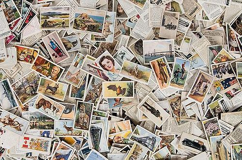Over 500 Vintage Cigarette and Tea Cards.