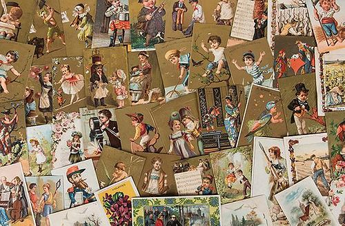 Over 300 French Advertising Trade Cards.