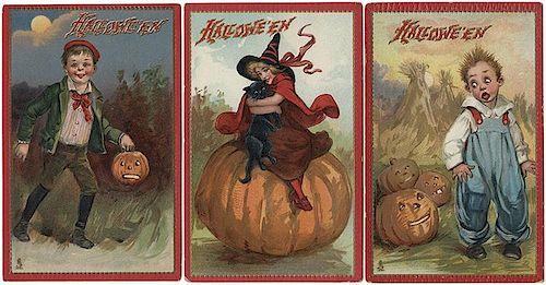 Seven Halloween Postcards. Raphael Tuck Series No. 174.