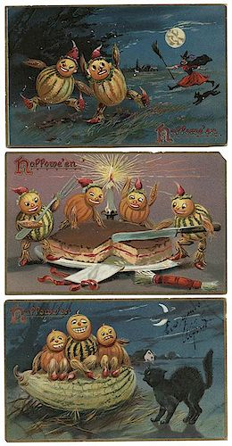 Nine Halloween Postcards. Raphael Tuck Series No. 150.