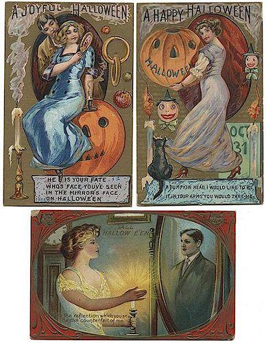 Fifteen Halloween Postcards.