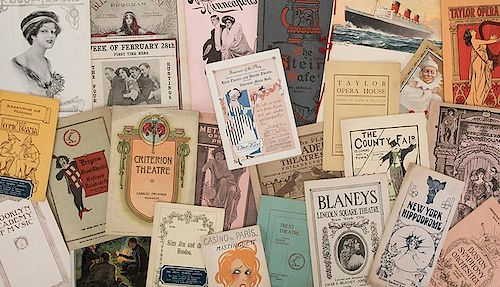 Lot of More than 30 Music, Theater, and Vaudeville Programs.