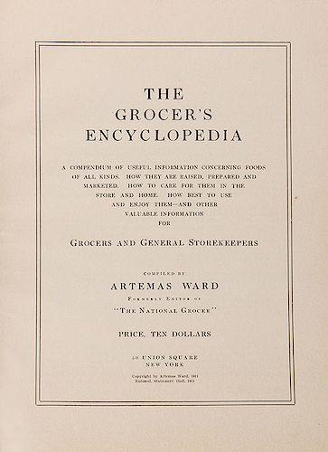 Ward, Artemis. The Grocer's Encyclopedia.