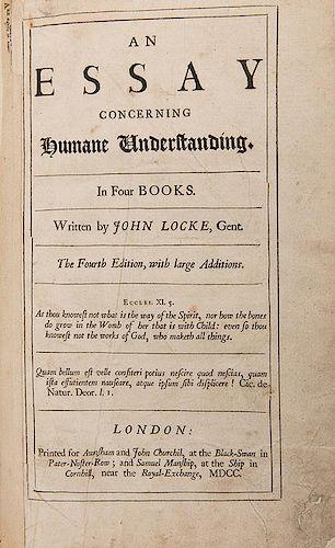 Locke, John. An Essay on Human Understanding.