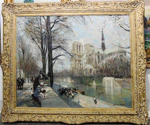 Jules Herve, (French, 1887-1981), Parisian Landscape