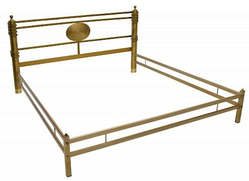 LUCIANO FRIGERIO OF DESIO ITALIAN MODERN BRASS BED