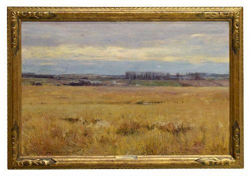 "DWIGHT TRYON (1849-1925) LARGE 24"" x 36"" LANDSCAPE"