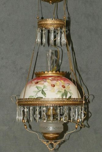 19TH C. PARLOR CEILING LAMP