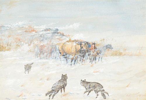 OLAF C. SELTZER (1877-1957), Winter Alert (1900)