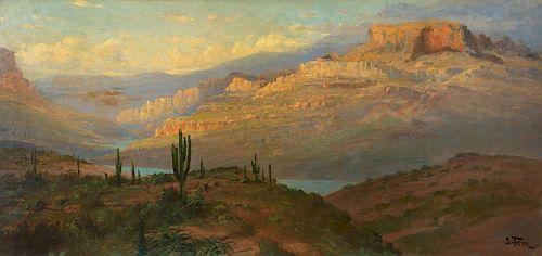 JOHN FERY (1859-1934), Canyon in Arizona