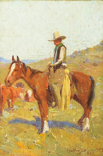 E. WILLIAM GOLLINGS (1878-1932), Day Herder (1923)