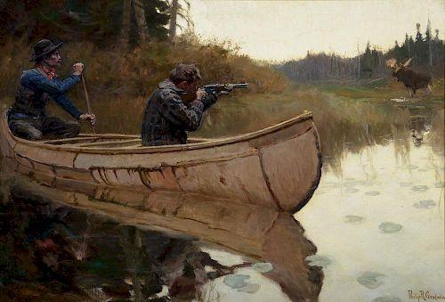 PHILIP R. GOODWIN (1881-1935), Moose Hunters