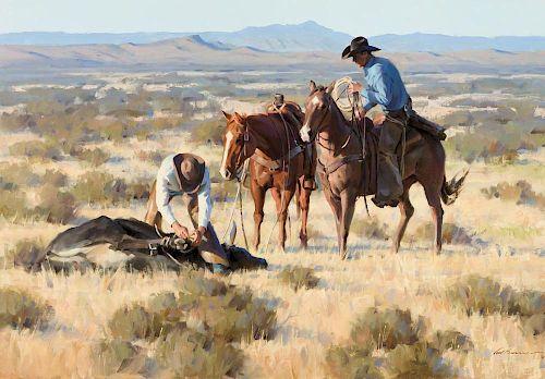 TOM BROWNING (b. 1949), Workin' the Open Range (2017)
