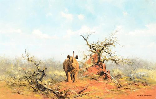 DAVID SHEPHERD (b. 1931), Black Rhino (1969)